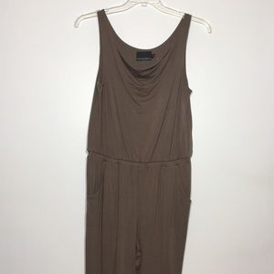 NWT Cynthia Rowley Brown sleeveless Jumpsuit large